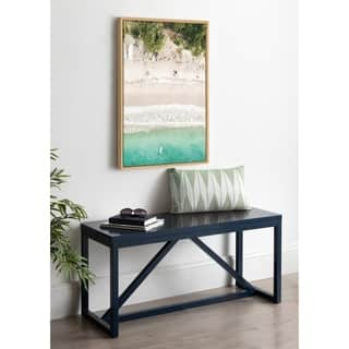 DesignOvation Sylvie Tropical Beach Framed Canvas by Amy Peterson