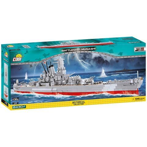 COBI World War II Battleship Musashi 2430 Piece Construction Blocks Building Kit