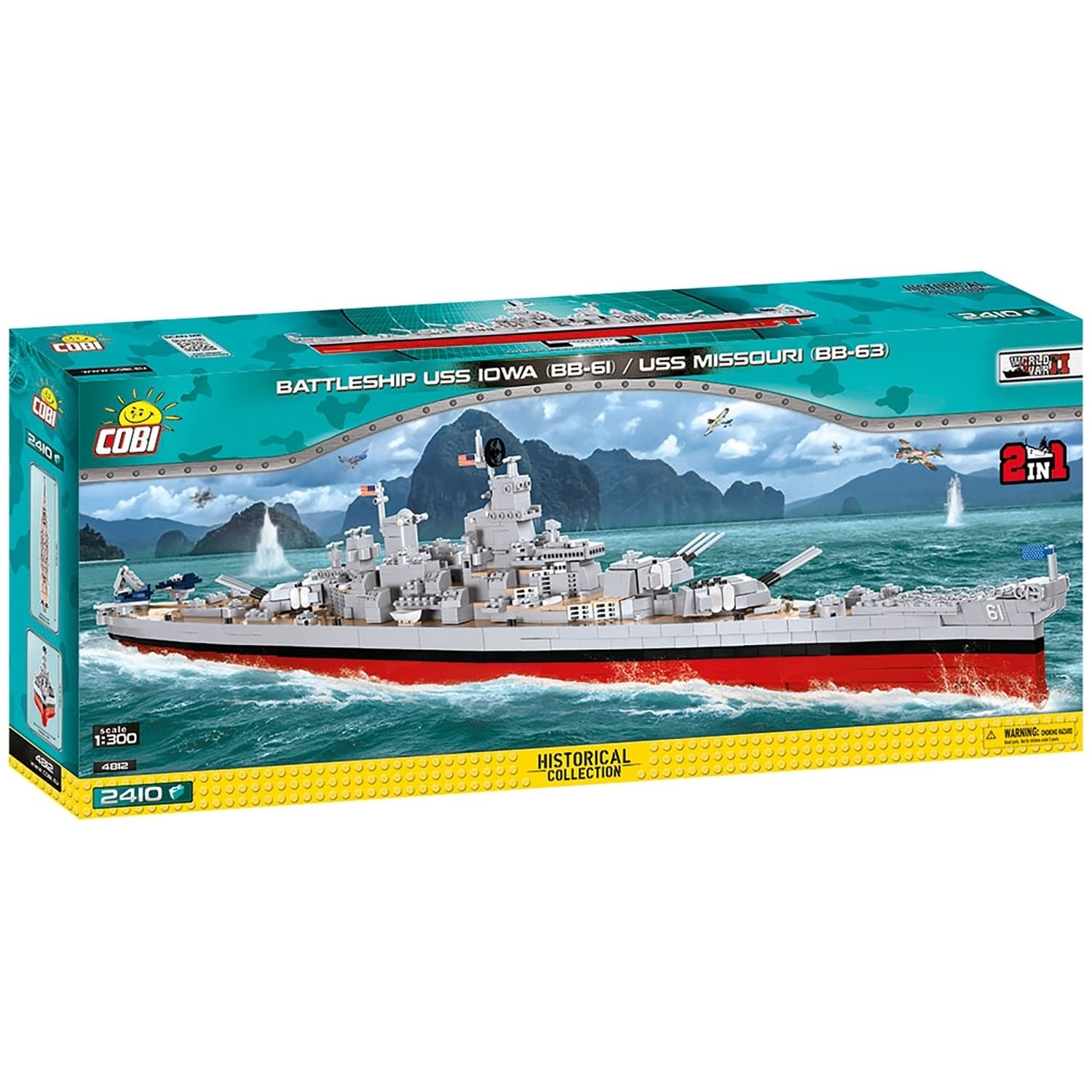 Shop Cobi World War Ii Battleship Uss Iowa Bb 61 Uss Missouri Bb 63 2400 Piece Construction Blocks Building Kit Overstock 29147134