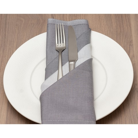 Mascioni Grey 22 inch Napkins Set of 6 - N/A