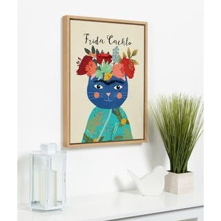 DesignOvation Sylvie Frida Cathlo Framed Canvas by Mia Charro