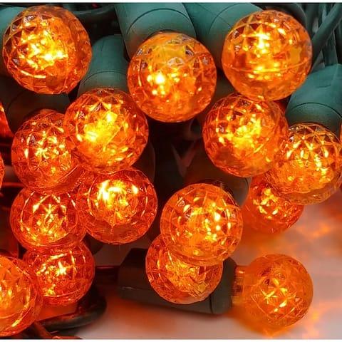 Orange LED Set of 70 Lights Light String G12