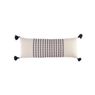 Novogratz Layla Navy Cotton Throw Pillow