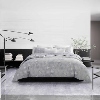 Vera Wang Ghost Flower Duvet Cover and Coordinating Shams