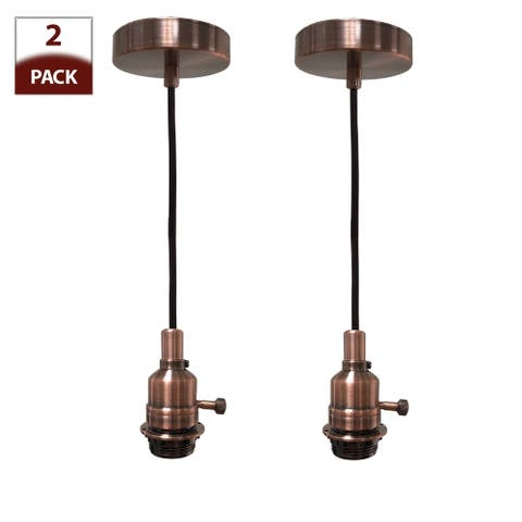 Vintage Style Antique Copper Keyless Uno Dimmable Pendant Light