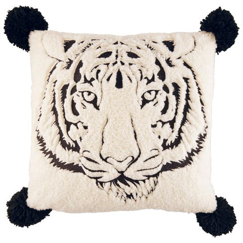 Betsey Johnson Tiger Sherpa 20-inch Pillow