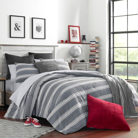 Nautica Craver Grey Cotton Comforter Set