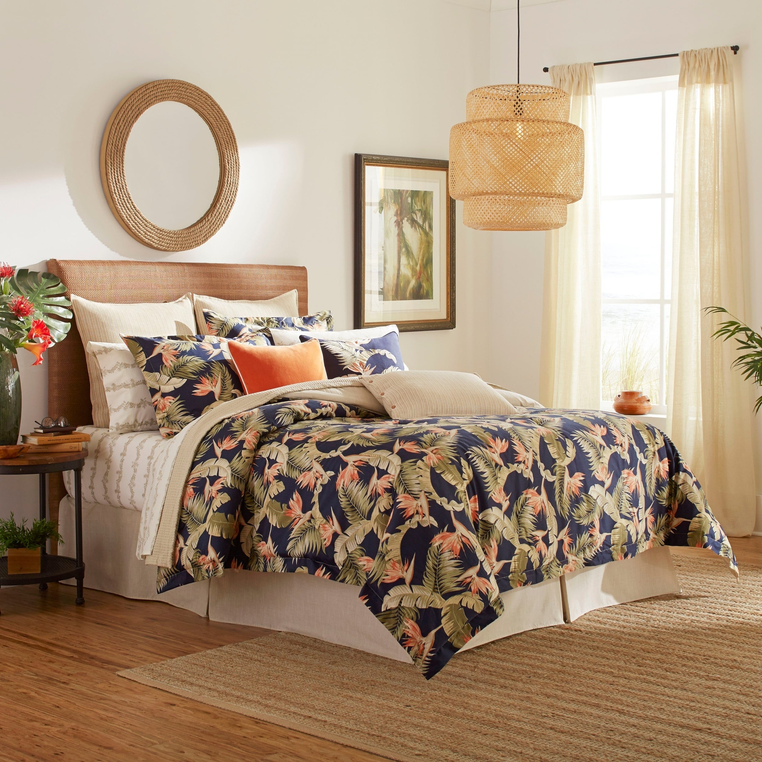 Picture of: Tommy Bahama San Jacinto Cotton Comforter Set Overstock 29147222 San Jacinto Queen