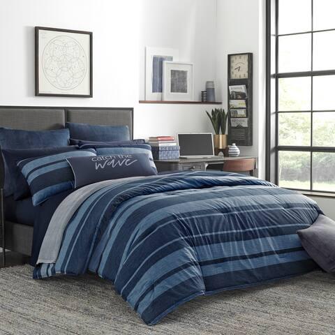 Nautica Longpoint Navy Cotton Comforter Set