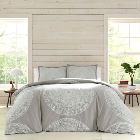 Marimekko Fokus Grey Cotton Duvet Cover Set