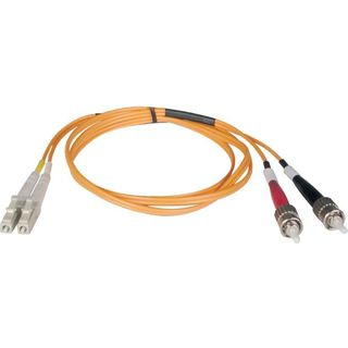 Tripp Lite 5M Duplex Multimode 62.5/125 Fiber Optic Patch Cable LC/ST