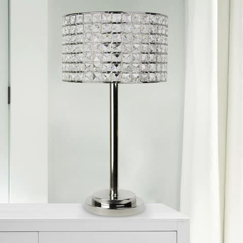 Silver Orchid Burkett 25.75-inch Polished Nickel Table Lamp