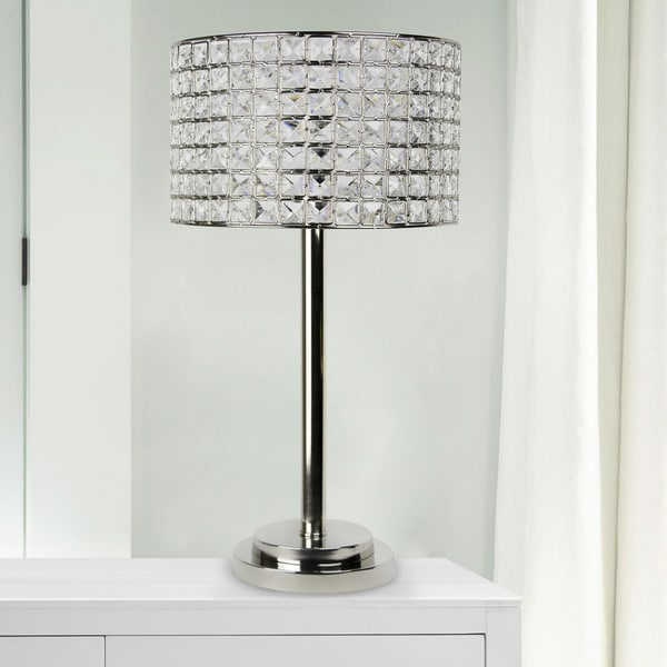 Silver Orchid Burkett 25.75-inch Polished Nickel Table Lamp. Opens flyout.