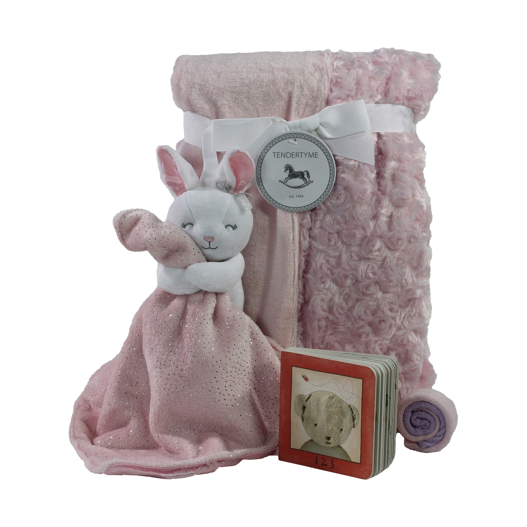 Pink Plush Baby blanket Elephant Starting Out Layette