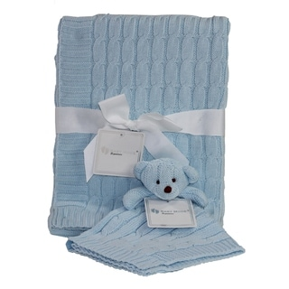 Link to Cable Knit Baby Blanket Gift Set Similar Items in Gift Sets