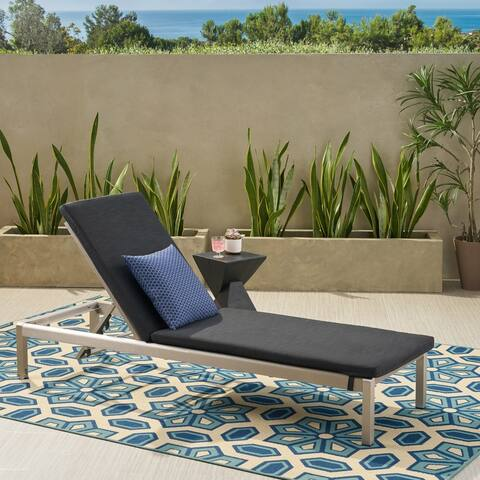 Cape Coral Outdoor Chaise Lounge with Cushion by Christopher Knight Home