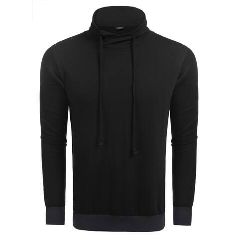 Coofandy Men's Drawstring Turtleneck Long Sleeve Slim Fit Casual Pullover Sweatshirt