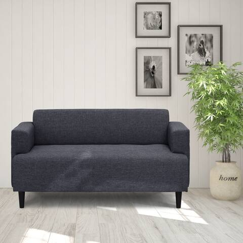 Furinno Simply Home Modern Fabric Sofa, Dark Grey