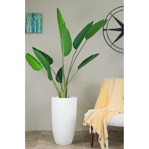"Large Tall Mid-century Modern Planter Fiber Clay 13"" Pot"