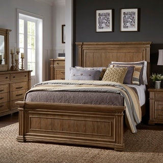 Link to Mauer Light Distressed Natural Finish Bed by iNSPIRE Q Artisan Similar Items in Bedroom Furniture