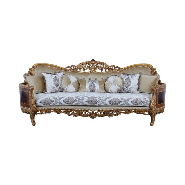 Polyester Curved Sofa In Baroque Style