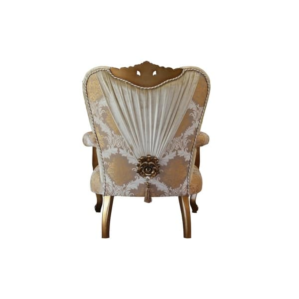 Baroque Style Wooden Chair With Carved Oversized Crown Gold And Brown On Sale Overstock 29158125