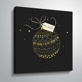 ArtWall Happy Christmas Gallery Wrapped Canvas