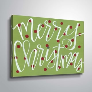 ArtWall Merry Christmas II Gallery Wrapped Canvas