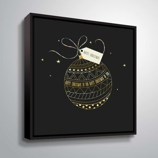 Link to ArtWall Happy Christmas Gallery Wrapped Floater-framed Canvas Similar Items in Christmas Decorations
