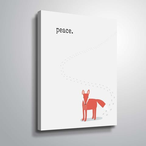 ArtWall Peaceful Fox Gallery Wrapped Canvas