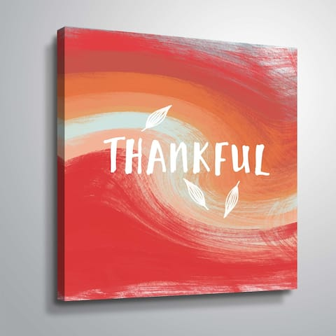 ArtWall Thankful Gallery Wrapped Canvas