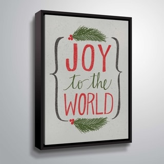 ArtWall Joy to the World III Gallery Wrapped Floater-framed Canvas