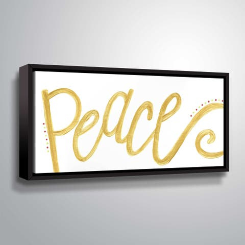ArtWall Peace Gallery Wrapped Floater-framed Canvas