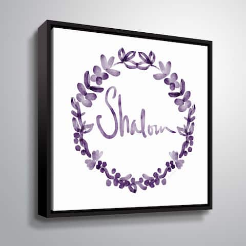 ArtWall Shalom Wreath Gallery Wrapped Floater-framed Canvas