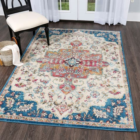 Buy Blue 6 X 9 Home Dynamix Area Rugs Online At