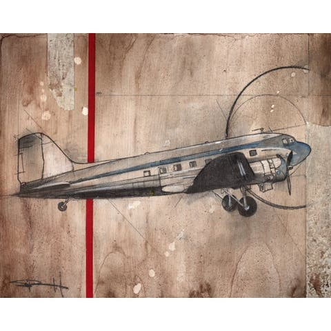 CANVAS DC-3 Airplane by Sean Parnell Art Painting Reproduction