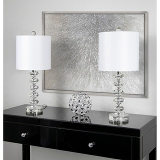 Silver Orchid August Clear Crystal Table Lamp (Set of 2)