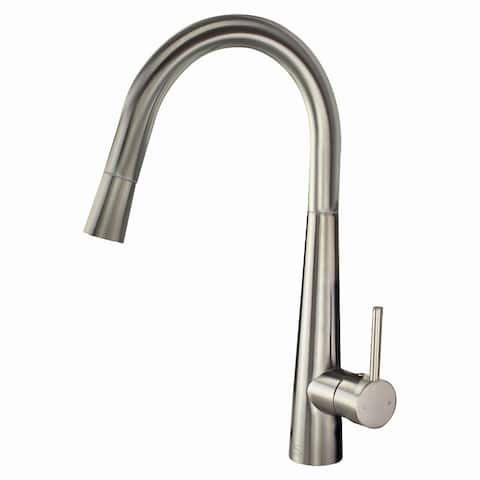 "Transolid Retreat 1.8GPM Pull Down Kitchen Faucet with Single Handle - 2"" x 8.5"" x 15.14"""