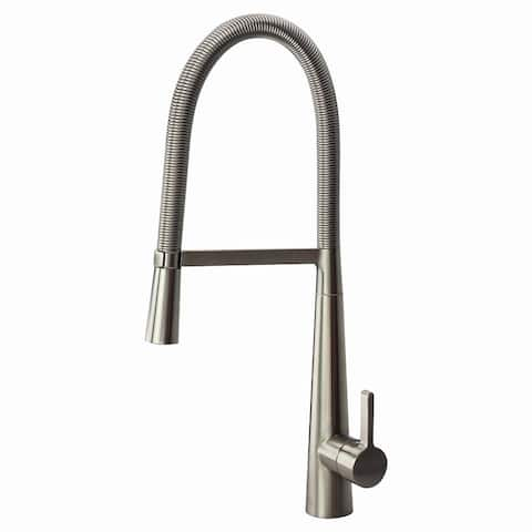 "Transolid Trattoria Semi-Pro 1.8GPM Pull Down Kitchen Faucet with Braided Hose - 2"" x 7.88"" x 21.06"""