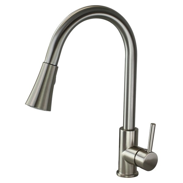 """Transolid Holmes 1.8GPM Pull Out Kitchen Faucet with Single Handle - 2"""" x 9.56"""" x 15.88"""""""