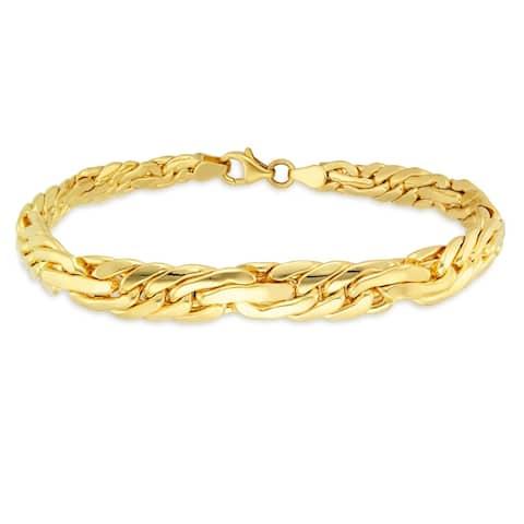 Forever Last 18 k Gold Plated Women's Bizantine Bracelet