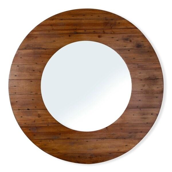 "Portal Wood Mirror - 40""R"