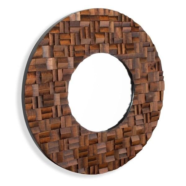 "Alise Wood Mirror - 36""R"