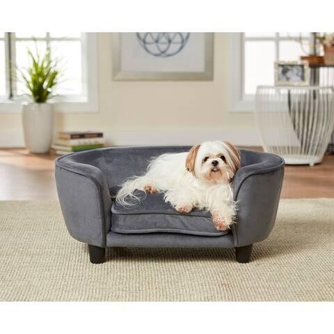 Enchanted Home Pet Coco Pet Sofa - Dark Grey