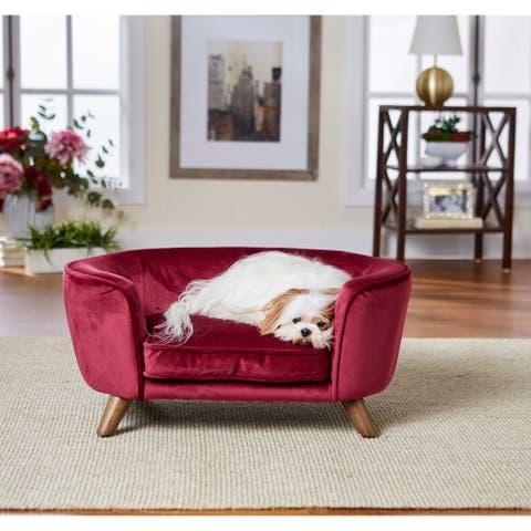 Enchanted Home Pet Romy Pet Sofa - Wine