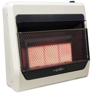 Lost River Liquid Propane Gas Ventless Infrared Radiant Plaque Heater - 28,000 BTU, T-Stat Control - Model# LR3TIR-LP