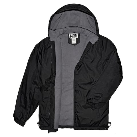 Victory Outfitters Men's Fleece Lined Removable Hood Zipper Jacket