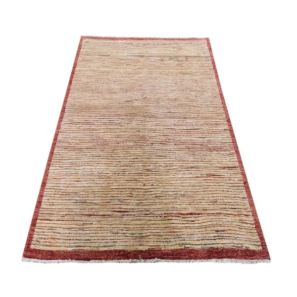 "Shahbanu Rugs Oriental Gabbeh Peshawar Transitional Hand Knotted Rug (4'3"" x 5'10"") - 4'3"" x 5'10"""