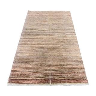 "Shahbanu Rugs Peshawar Gabbeh Hand Knotted Pure Wool Oriental Rug (4'0"" x 6'6"") - 4'0"" x 6'6"""