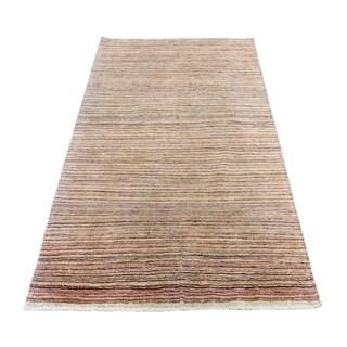 "Shahbanu Rugs Pure Wool Peshawar Gabbeh Hand Knotted Oriental Rug (4'3"" x 5'9"") - 4'3"" x 5'9"""